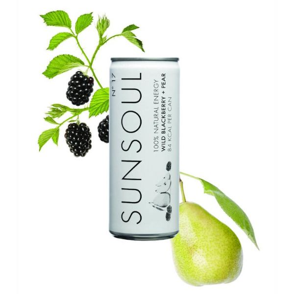 Sunsoul Energy Drink Wild Blackberry & Pear